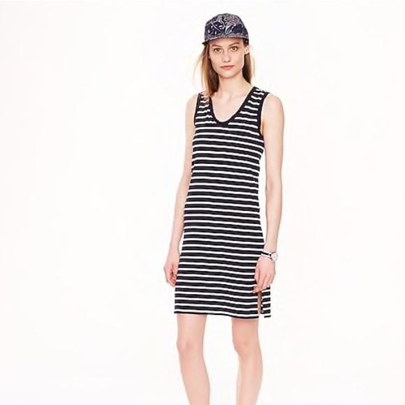 775a8b4015672 J. Crew Dresses & Skirts - JCrew Pima cotton dress in navy & white stripe